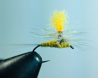 Sulpher Parachute Dry Fly - Size 14,16,or 18 - 3 pack