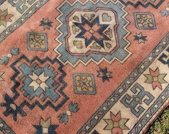 Turkish Oushak rug,Vintage Turkish Rug, Wool on Wool Rugs,Pale colors,3'10''x6'2''Home decor,AreaRug,Boho Rug, Fashion Rug,Rugs,Home living