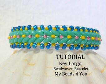 PDF Beadwork Tutorial, Beaded Bracelet Pattern, Beadweaving Tutorial, Pattern, Seed Bead Tutorial, PDF Beadwork Bracelet Pattern, Superduo