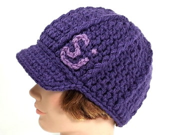 Purple Beanie with Brim inspired by The String Cheese Incident, ON SALE - MED