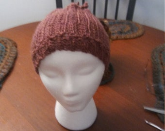 Wool rust colored hat