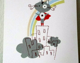 Wonder Kitty 5x7 Art Print