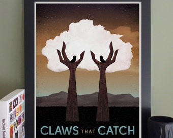 """Claws That Catch Gig Poster // O'Brien's, Allston, MA 13""""x19"""""""