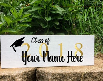 Class of 2018 Custom Wood Graduation Sign