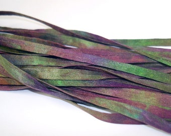 5YD. BOARDWALK 4MM X 5YD. (15feet) Hand Dyed Silk Bracelet Cording//4MM Cording With Hollowed Center//Easy Insertion Of Memory Wire