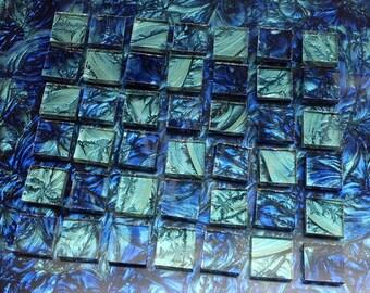 2 Color - Van Gogh Glass Mosaic Tiles - BLUE & BLUEGREEN  B11/23