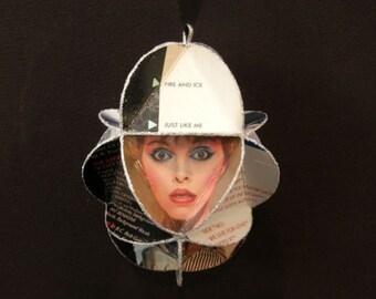 Pat Benatar Album Cover Ornament Made Of Repurposed Record Jackets