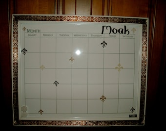 Personalized Dry Erase Calender