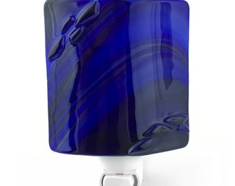 Night Light, Royal Blue, Stained Glass, Home Decor