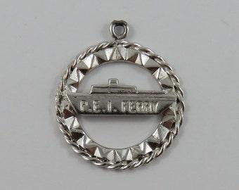 P.E.I. Ferry Sterling Silver Vintage Charm For Bracelet