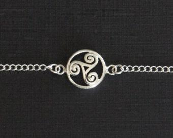 Sterling Silver Celtic Bracelet, Mother's Gift, Kids Bracelet, Children Jewelry, Children Gift, Birthday Gift