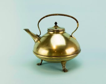 Christopher Dresser Design Brass Kettle Teapot Antique Victorian 19th C