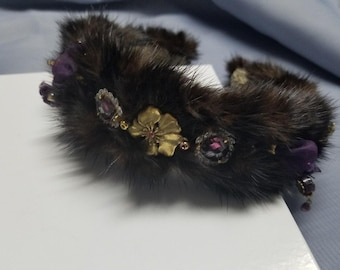 Women Fashion Jewelry Dark Mink Headband Head Piece