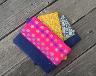 Indian Fabric Foldover clutches, zari work fabric clutches, wedding clutches