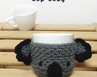 Crochet Pattern Koala Bear Coffee warmer Koala Bear Tea Mug cover Koala Bear  Mug holder Koala Bear Apple cozy Koala Bear Apple protector