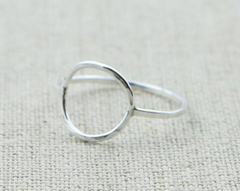 Karma Circle Ring in Sterling Silver