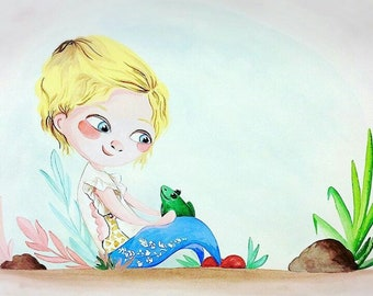 Custom Children Illustration - Favorite Pet
