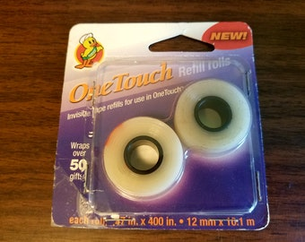 """OneTouch Invisible Tape Refill Rolls for OneTouch Dispensers - Set of 2 - .47"""" x 400"""" Each"""