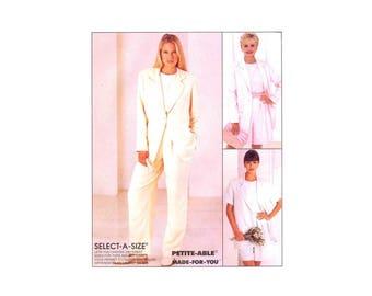 Misses Boxy Jacket Top Pants Shorts McCalls 8093 Sewing Pattern Full Figure Size 16 - 18 - 20 Bust 38 - 40 - 42 UNCUT