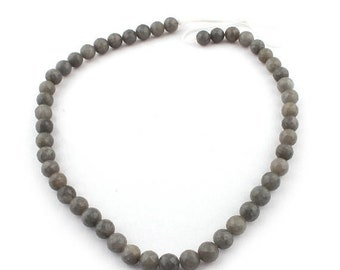 Memorial Day 1 Strands Long Gray Moonstone Faceted Round Ball Bead - Gray Moonstone Beads 8mm 14 Inches SB4819