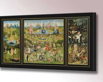 Garden of Earthly Delights by Hieronymus Bosch Canvas Art Wall Art Print Bosch Print Home Decor Ready To Hang