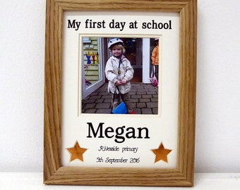 First day at school personalised- nursery picture frame