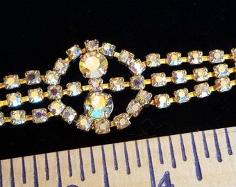 Vintage Rhinestone Bracelet - Aurora Borealis