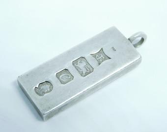 Silver ingot pendant, 1977, silver jubilee