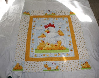 Chicken and Chicks Baby quilt