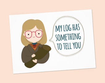 Twin Peaks greeting card - Log Lady: My log has something to tell you - Happy birthday's card PDF DIY Printable 6x4 inch - Instant download