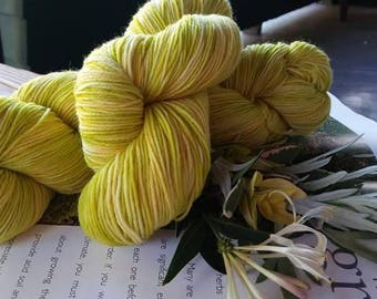 Superwash Merino Sock Yarn - Lemon Lime