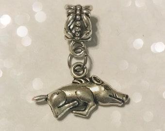Pig Charm for Big Hole Bracelet or Necklace