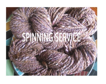Handspinning Service Made to Order Yarn Singles and Two-Ply Yarn I Specialize in Light Worsted to Bulky Weights