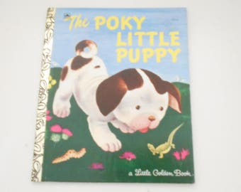Vintage 1942 Copyright, Renewed 1970; 1992 Printing (26) The Poky Little Puppy, A Little Golden Book