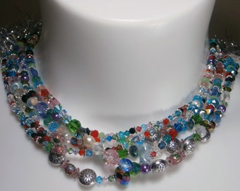 6 strands Swarovski Crystal Necklace