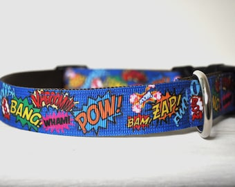 Dog Collar - My Hero -  50% Profits to Dog Rescue