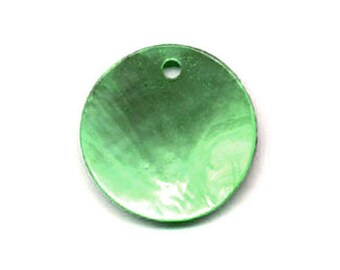 10 x 10mm round green Pearl sequin