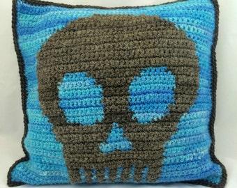 Crochet Skull, Crochet Graph, Knitting Chart, Skull Square Graph
