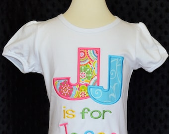 Personalized Initial Name Applique Shirt or Bodysuit Boy or Girl