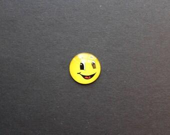 "Cabochon 25mm glass Smiley Emoji Emoticon ""findus"""