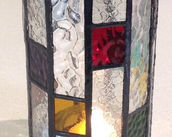 Confetti Candle Lantern in Art Deco style