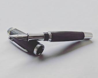 Wooden Fountain Pen - Handmade Fountain Pen - English Bog Oak - Graduation Pen - Executive Fountain Pen - Luxury Fountain Pen