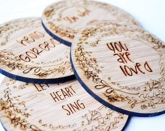 Inspirational Bamboo Coasters