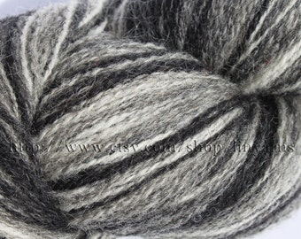 KAUNI Estonian Artistic Wool Yarn Black White 8/2,  Art Wool  Yarn for Knitting, Crochet