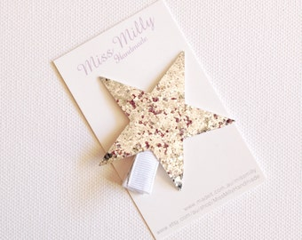 Sparkly Twinkle Star - Silver - Girls hair clip, Star hair clip, girls hair accessories
