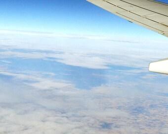 Photograph Print - Sky - Airplane - Earth - Color - Photography - Art