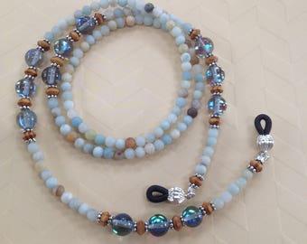 Amazonite Eyeglass Chain