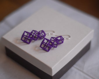 Rhombic Dodecahedron earrings