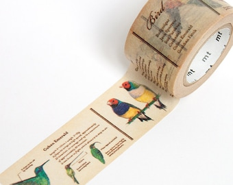 Bird Washi Tape • MT Masking Tape • MT ex Birds Wide Washi Tape • Washi Tape UK • Japanese stationery • Bird