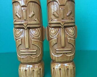 Pair of vintage Kon Tiki Hotel mugs from Phoenix AZ